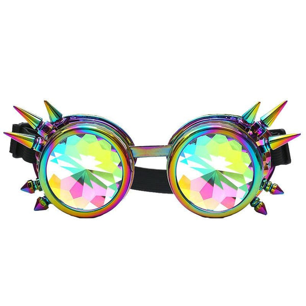 Kaleidoscope Rave Party Sunglasses - Havana86