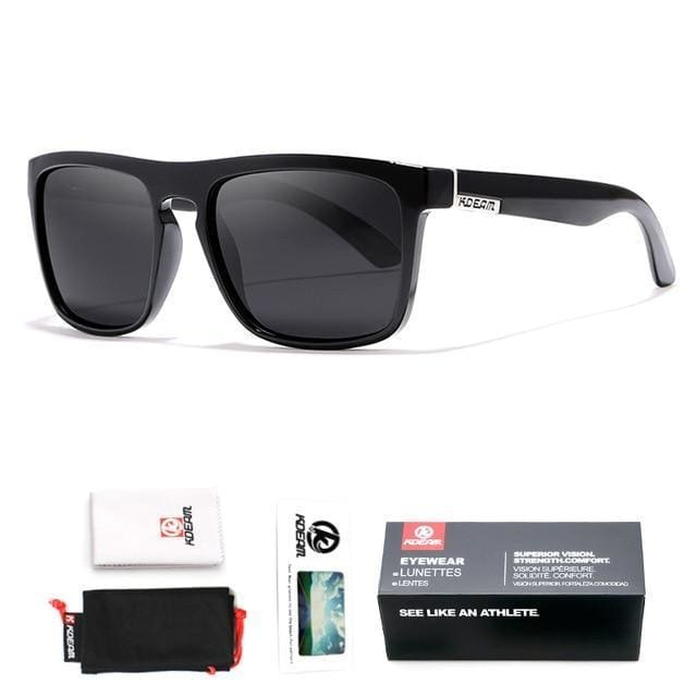 Polarised Wayfarer Sunglasses - Black - Havana86