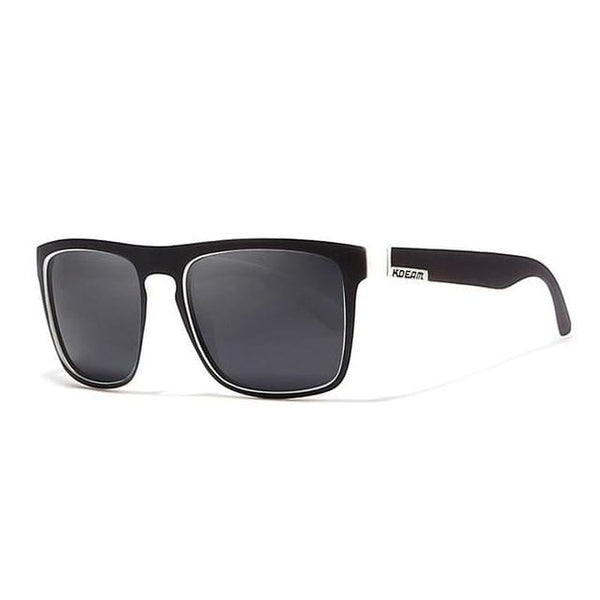 Polarised Wayfarer Sunglasses - Black & White - Havana86