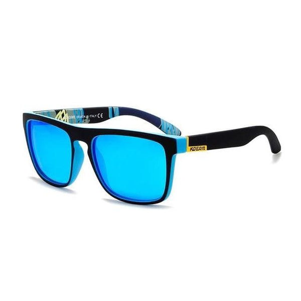Polarised Wayfarer Sunglasses - Blue - Havana86