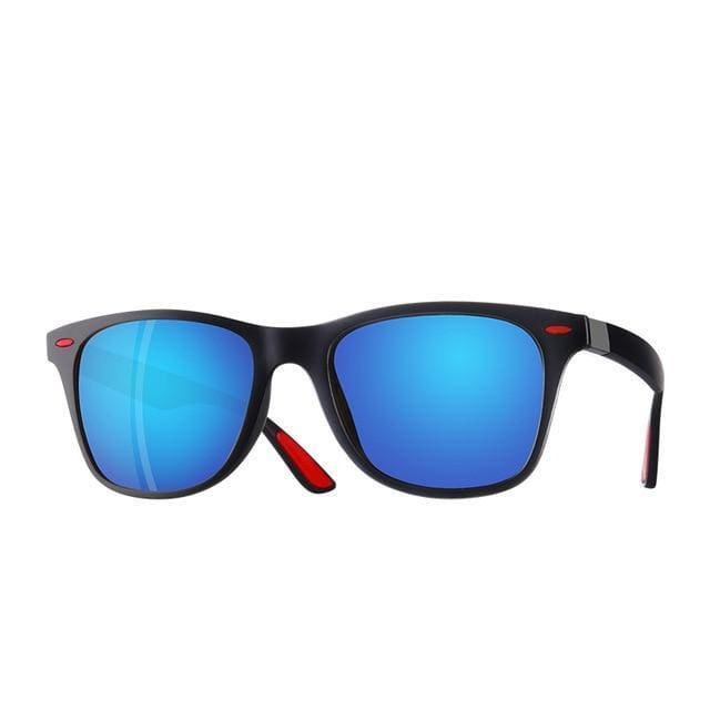 Polarised Wayfarer Sunglasses - Blue Mirror - Havana86