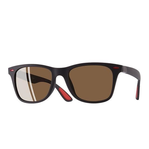 Polarised Wayfarer Sunglasses - Brown - Havana86