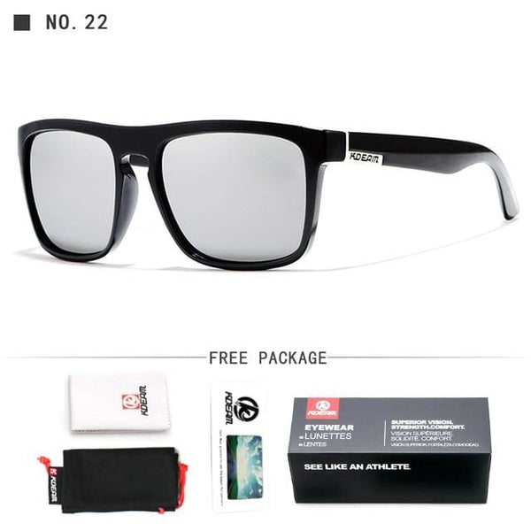 Polarised Wayfarer Sunglasses - Grey - Havana86