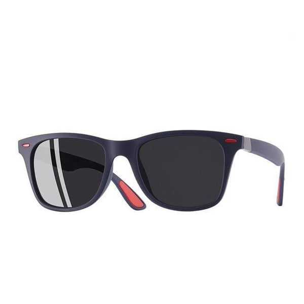 Polarised Wayfarer Sunglasses - Navy Blue - Havana86