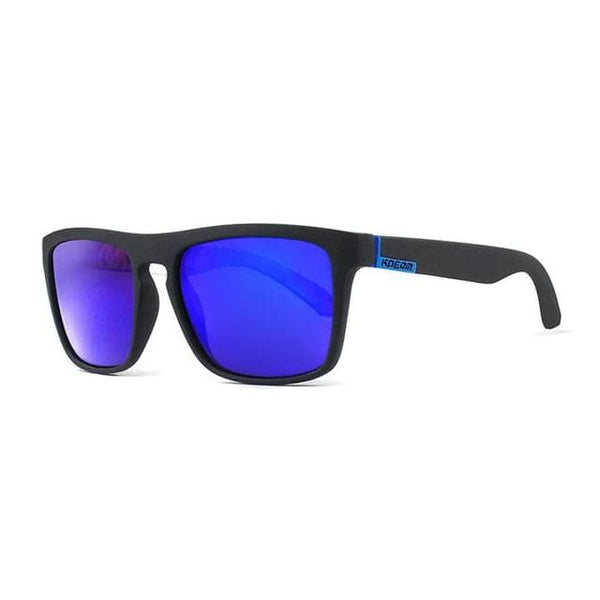Polarised Wayfarer Sunglasses - Navy - Havana86