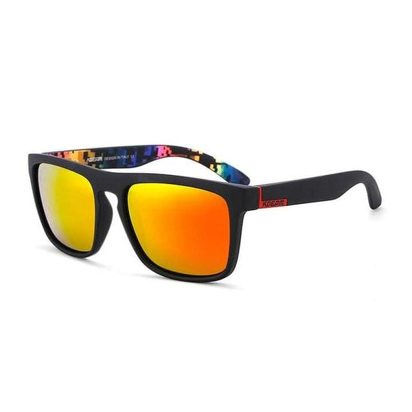 Polarised Wayfarer Sunglasses - Orange Fade - Havana86