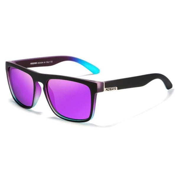 Polarised Wayfarer Sunglasses - Purple - Havana86