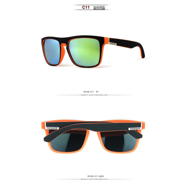 Polarised Wayfarer Sunglasses - Surf Green - Havana86