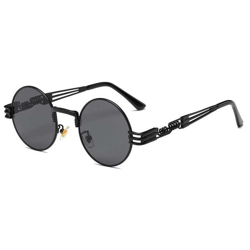 Retro Circle Round Sunglasses - Havana86