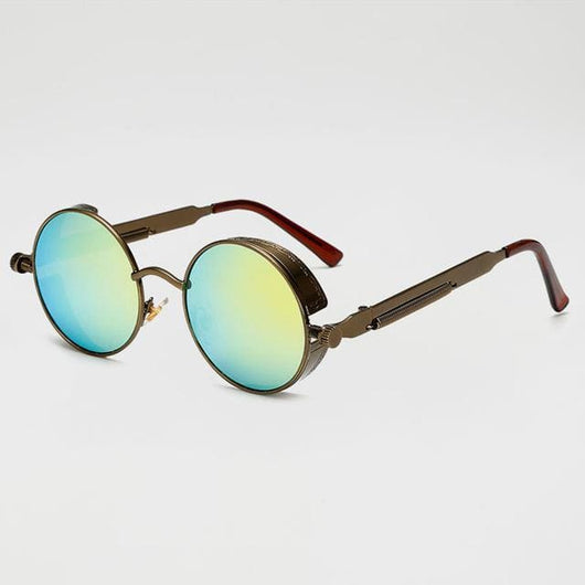 Retro Round Sunglasses - Bronze/Surf - Havana86