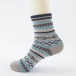 Thick Warm Fairisle Wool Socks - Havana86