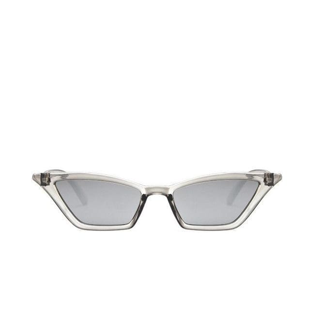 Vintage Style Cat Eye Sunglasses - Grey - Havana86