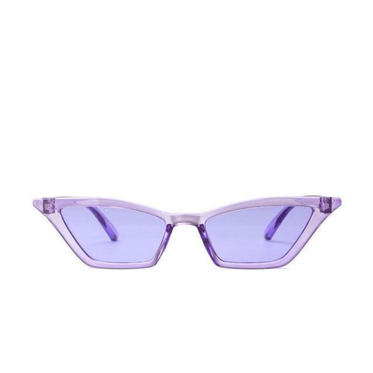 Vintage Style Cat Eye Sunglasses - Lilac - Havana86
