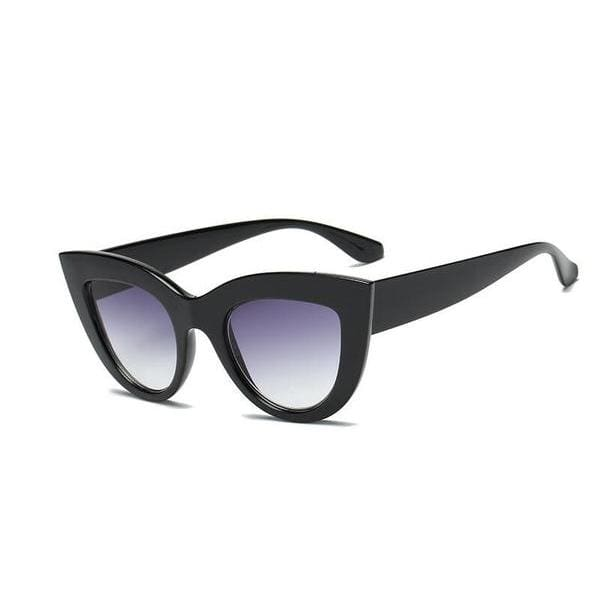 Vintage Style Cat Eye Sunglasses - Purple Fade - Havana86
