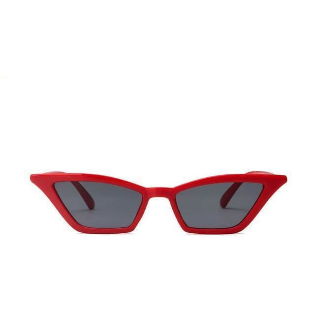 Vintage Style Cat Eye Sunglasses - Red/Black - Havana86