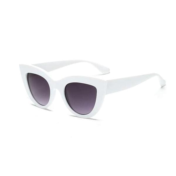 Vintage Style Cat Eye Sunglasses - White - Havana86