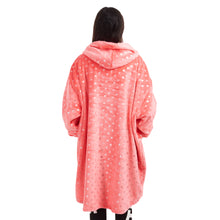 "Snuggs Blanket Hoodie ""Pink with silver dots"""
