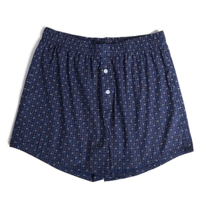 Dark Blue Flower Boxer Shorts