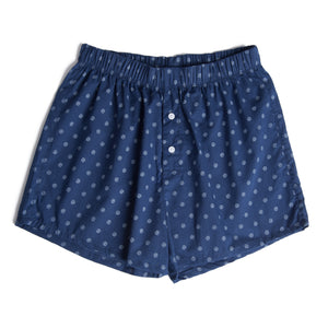 Blue Leaves Boxer Shorts