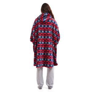 "Snuggs Blanket Hoodie ""Christmas Red"""