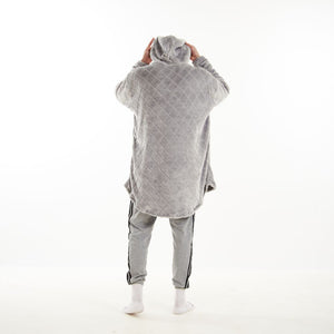 "Snuggs Blanket Hoodie ""Diamonds Grey"""