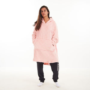 "Snuggs Blanket Hoodie ""Diamonds Rose"""