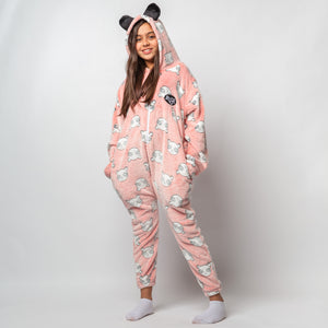 "Snuggs Kids Blanket Onesie ""Orange Panda Onesie"""