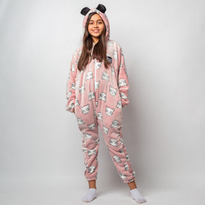 "Snuggs Kids Blanket Onesie ""Light Red Panda Onesie"""
