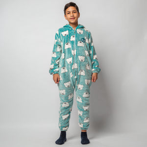 "Snuggs Kids Blanket Onesie ""Blue Polar Bear Onesie"""