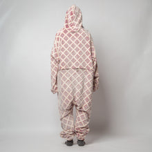 "Snuggs Blanket Onesie ""Dark Red Squares"""