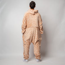 "Snuggs Blanket Onesie ""Beige With White Stars"""