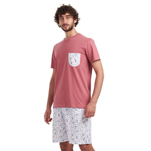 "Men summer pajama set ""Cashmere t-shirt + Printed Cashmere shorts"""