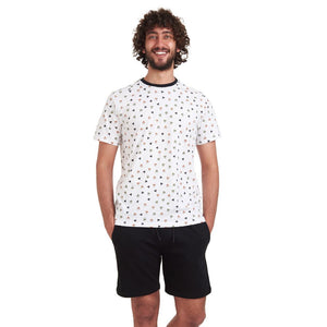"Men summer pajama set ""Triangles t-shirt + Black Shorts"""