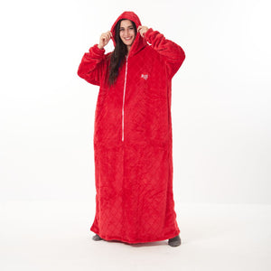 "Snuggs Monk Wearable Blanket ""Diamonds Red"""