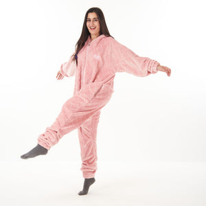 "Snuggs Blanket Onesie ""Cinnamon Pink Diamonds"""