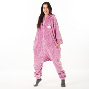"Snuggs Blanket Onesie ""Purple Diamonds"""