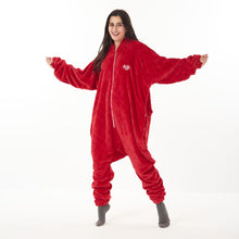 "Snuggs Blanket Onesie ""Red diamonds"""
