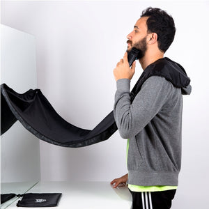 "Snuggs beard cape ""Black"""