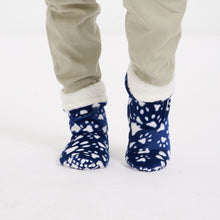 "Snugg Boot ""Dark Blue Dog Paws"""