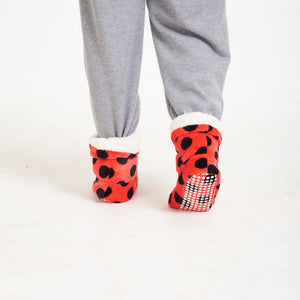 "Snugg Boot ""Light Red Polka Dots"""