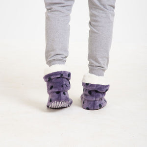 "Snugg Boot ""Purple Polka Dots"""
