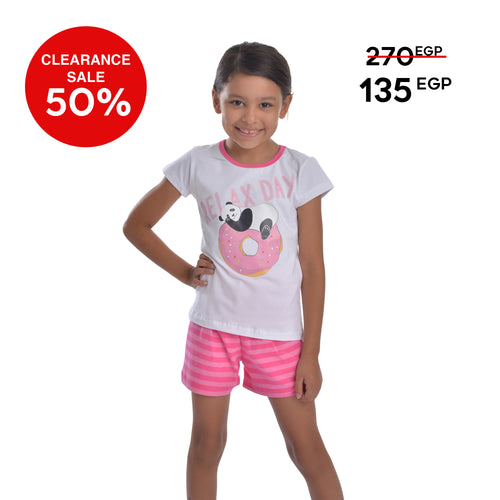 Panda girls pajama set