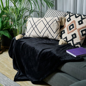 Sofa Blanket Throw - Black