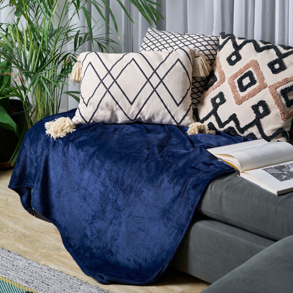 Sofa Blanket Throw - Dark Blue