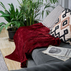 Sofa Blanket Throw - Maroon