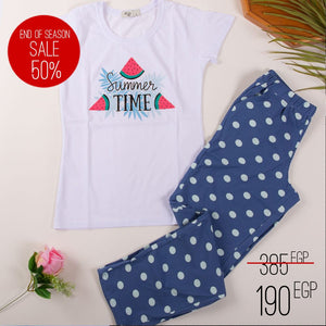 "Women summer pajama set ""Summer printed t-shirt + pants"""