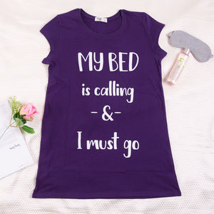 "Women summer pajama ""Purple night shirt"""