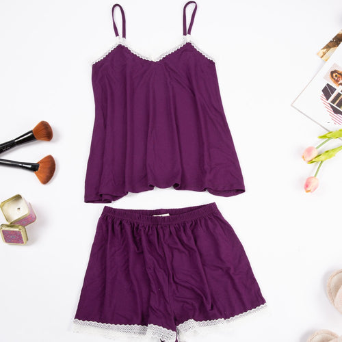 Women summer pajama set with lace