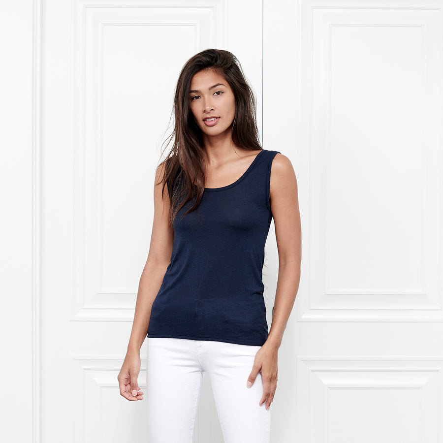 Cashmere Scoop Neck Tank