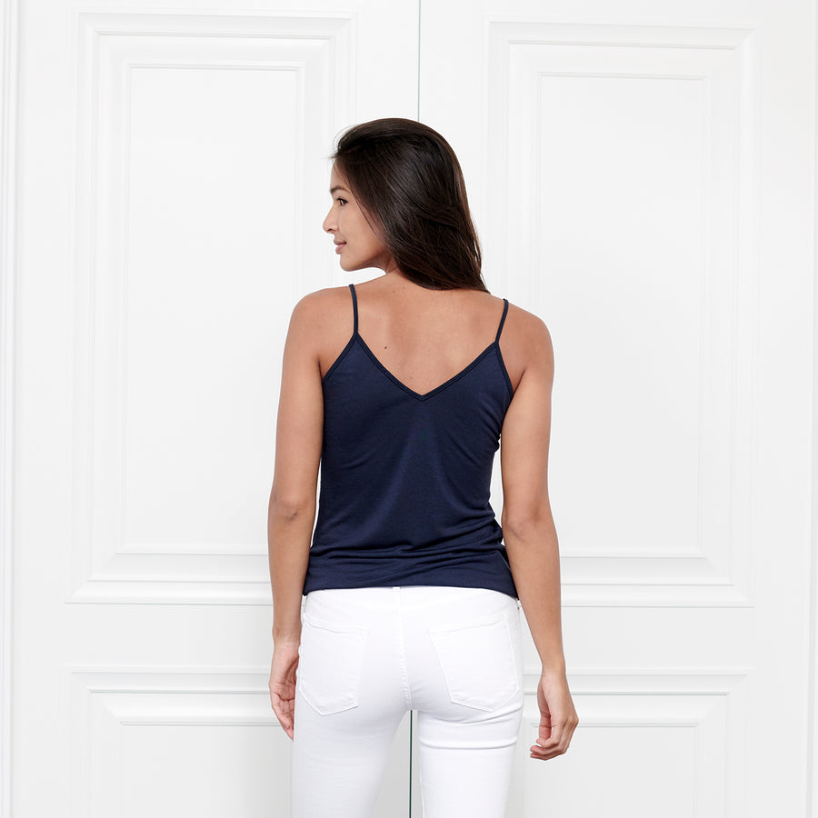 Cashmere V Neck Cami - Fite Luxury